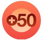50 plus 21