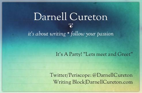 Blog tea party card