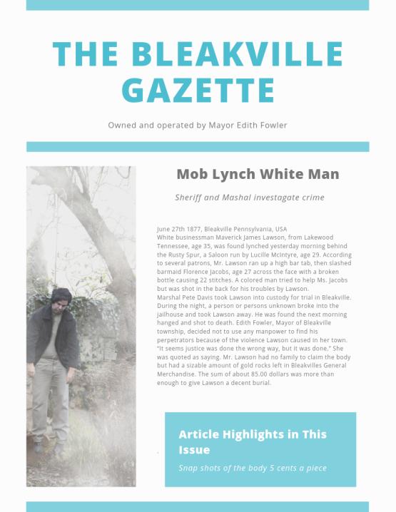 Bleakville Gazette